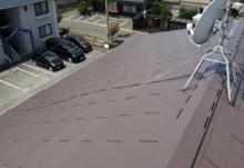 福岡県遠賀郡アパートの屋根塗装施工事例