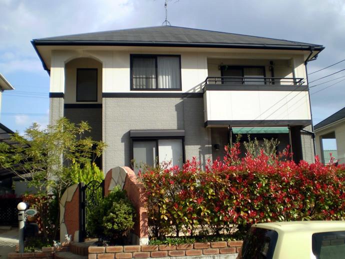 福岡市西区K様邸 外壁塗装施工事例の施工前画像