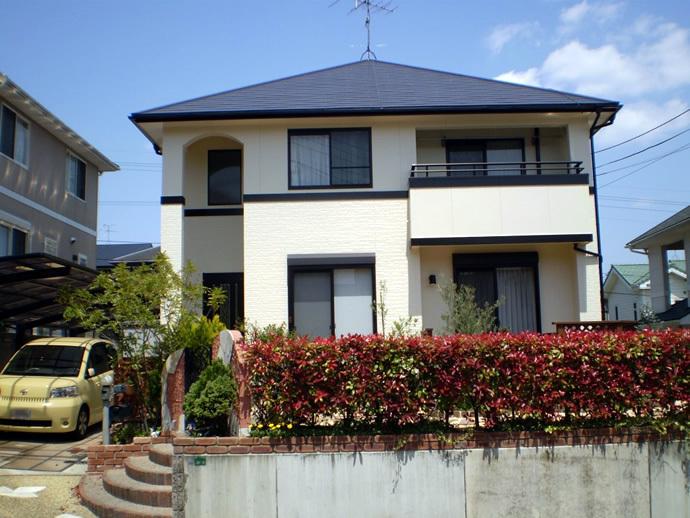 福岡市西区K様邸 外壁塗装施工事例の施工後画像