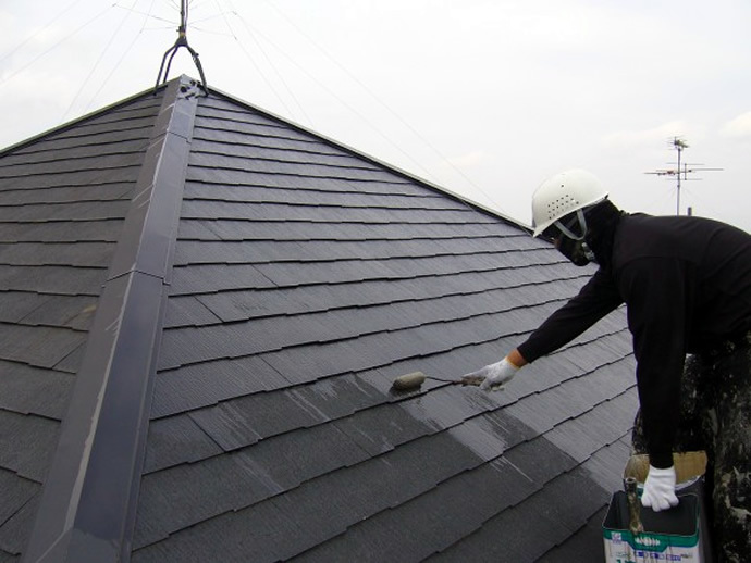福岡市西区K様邸 屋根塗装施工事例の施工前画像