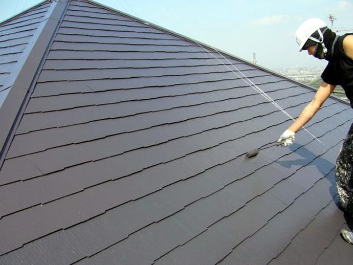 福岡市西区K様邸 屋根塗装施工事例の施工後画像
