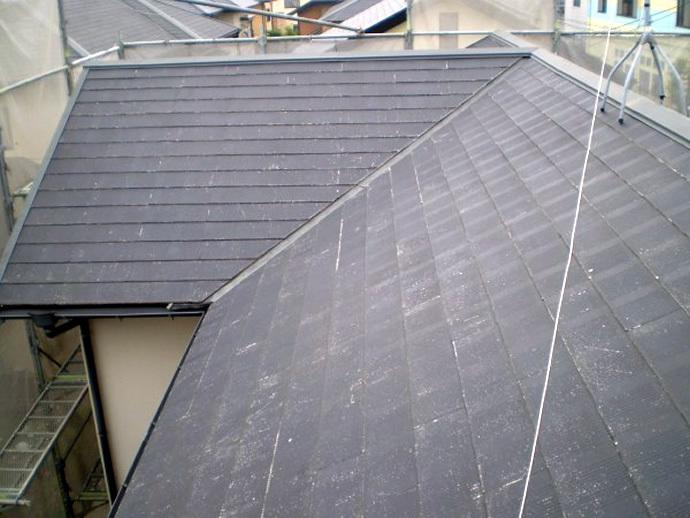 福岡県筑紫野市K様邸 屋根塗装施工事例の施工前画像