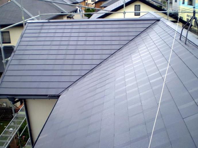 福岡県筑紫野市K様邸 屋根塗装施工事例の施工後画像