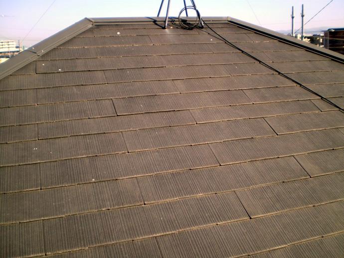 福岡県糟屋郡粕屋町T様邸 屋根塗装施工事例の施工前画像