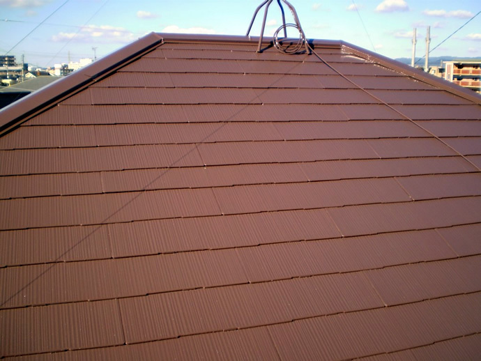 福岡県糟屋郡粕屋町T様邸 屋根塗装施工事例の施工後画像