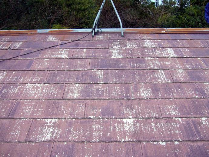 福岡市城南区K様邸 屋根塗装施工事例の施工前画像