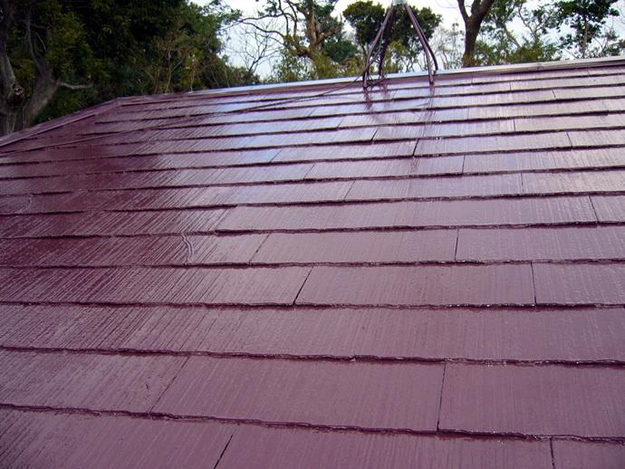 福岡市城南区K様邸 屋根塗装施工事例の施工後画像