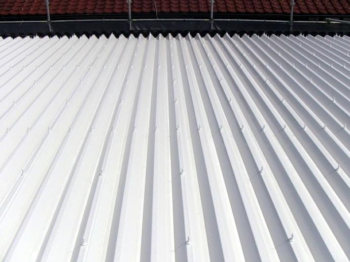 福岡市東区アパート 屋根塗装施工事例の施工後画像