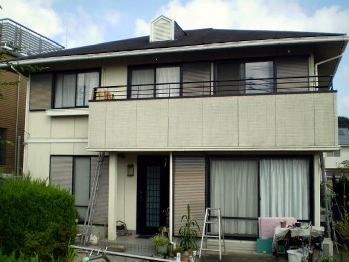 福岡市西区Y様邸 外壁塗装施工事例の施工前画像
