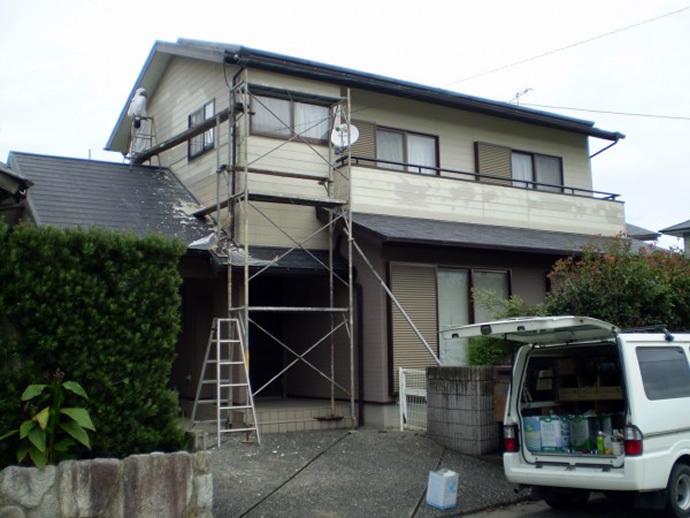 福岡県糸島市N様邸 外壁塗装施工事例の施工前画像