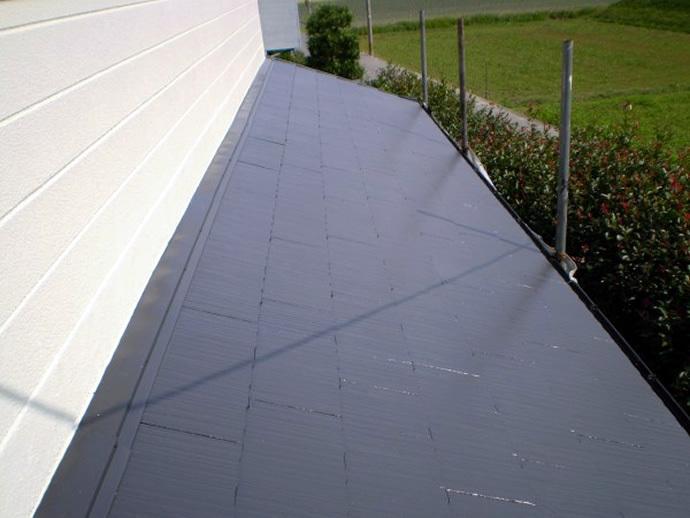 福岡県糸島市N様邸 屋根塗装施工事例の施工後画像