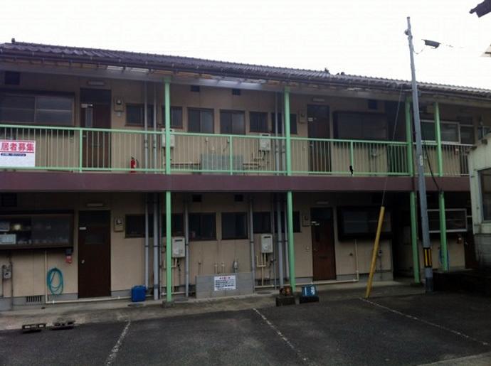 福岡県飯塚市Mアパート様 外壁塗装施工事例の施工前画像