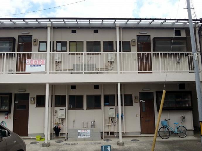福岡県飯塚市Mアパート様 外壁塗装施工事例の施工後画像