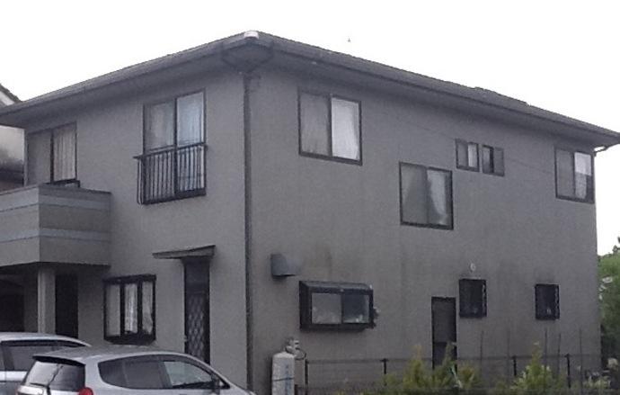 福岡市U様邸の外壁塗装・屋根塗装の施工事例の施工前画像
