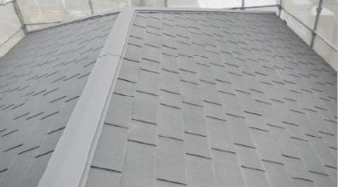福岡市M様邸の屋根塗装施工事例の施工前画像