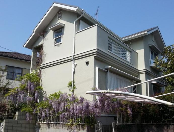 福岡市M様邸の外壁塗装施工事例の施工前画像