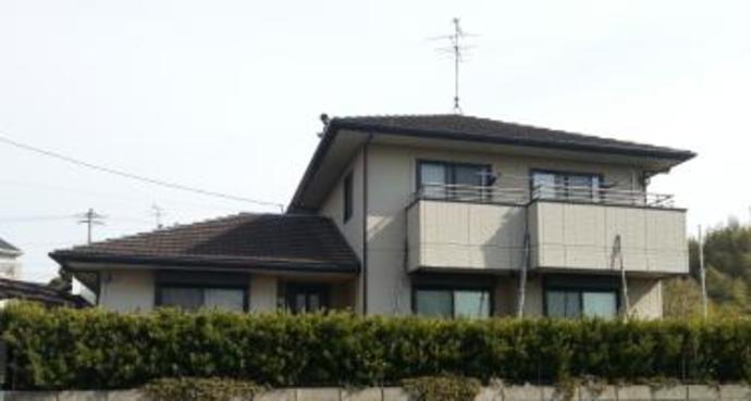 福岡市築15年ほどの戸建て住宅初めての外壁塗装を施工の施工前画像