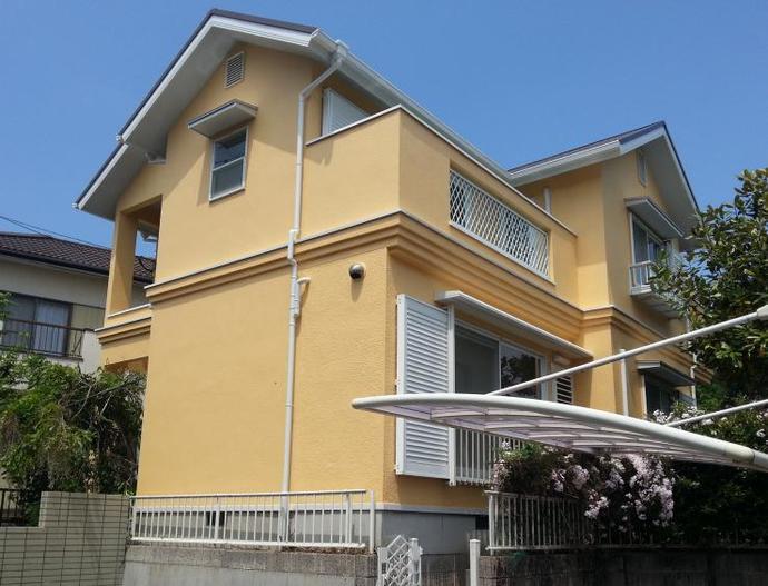 福岡市M様邸の外壁塗装施工事例の施工後画像