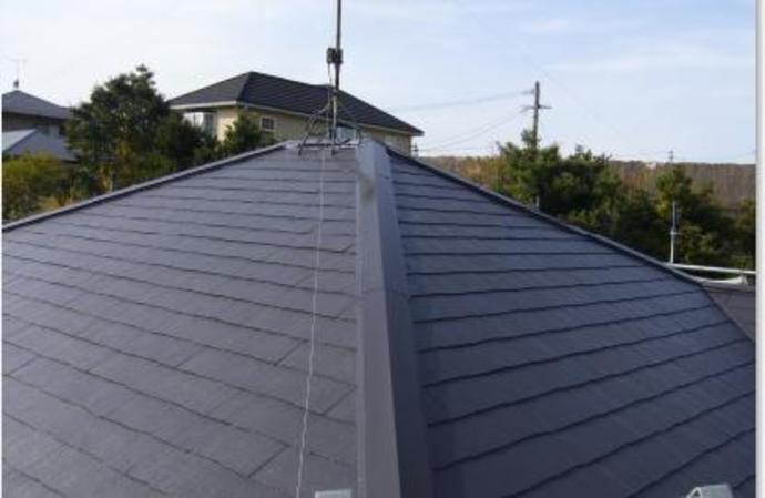 福岡県那珂川町F様邸の屋根塗装施工事例の施工後画像