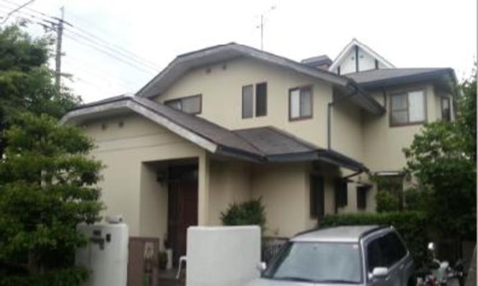 福岡市W様邸の外壁塗装施工事例の施工前画像