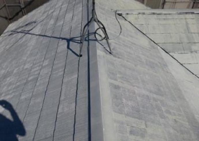 福岡市W様邸の屋根塗装施工事例の施工前画像