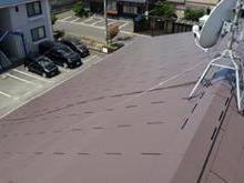 福岡県遠賀郡で色の退色による劣化からアパート初めての屋根塗装の画像