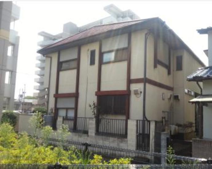 福岡市東区Y様邸外壁塗装施工工事例の施工前画像