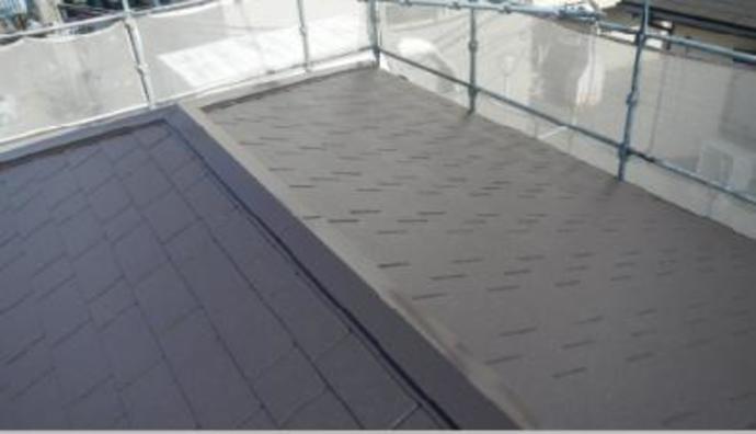 福岡市にお住まいの一軒家紫外線からの色褪せに悩み屋根塗装施工の施工後画像