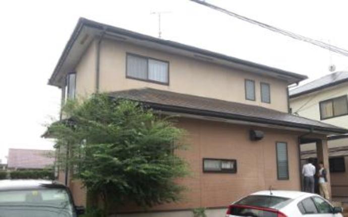 福岡市F様邸の外壁塗装施工事例の施工前画像