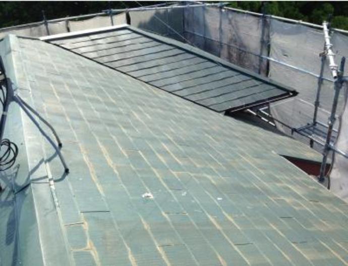 福岡市東区F様邸屋根塗装施工事例の施工前画像