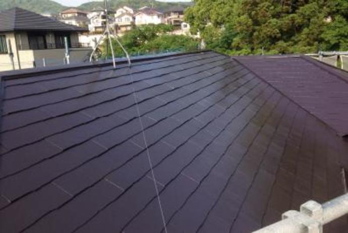 福岡市東区F様邸屋根塗装施工事例の施工後画像