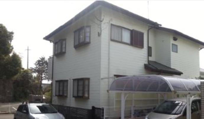 福岡市東区F様邸の外壁塗装施工事例の施工前画像