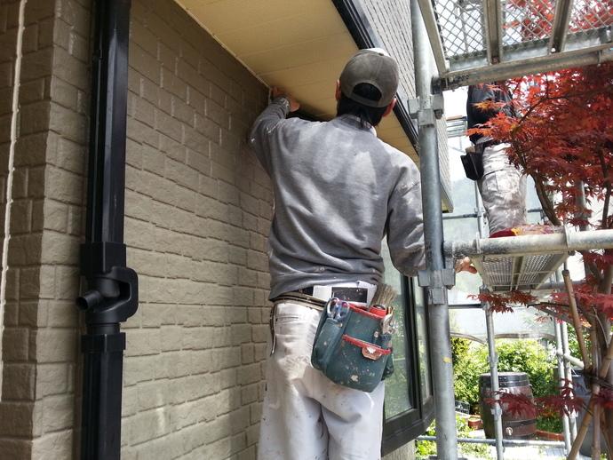 粕屋郡須恵町サイディング外壁色あせや汚れ劣化にお悩み住宅塗装の施工前画像