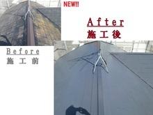 福岡市東区で経年劣化に伴いカビの生えた屋根が気になる屋根塗装の画像