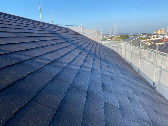 北九州市八幡西区上の原一戸建て屋根の色褪せ汚れお悩み初屋根塗装の施工前画像
