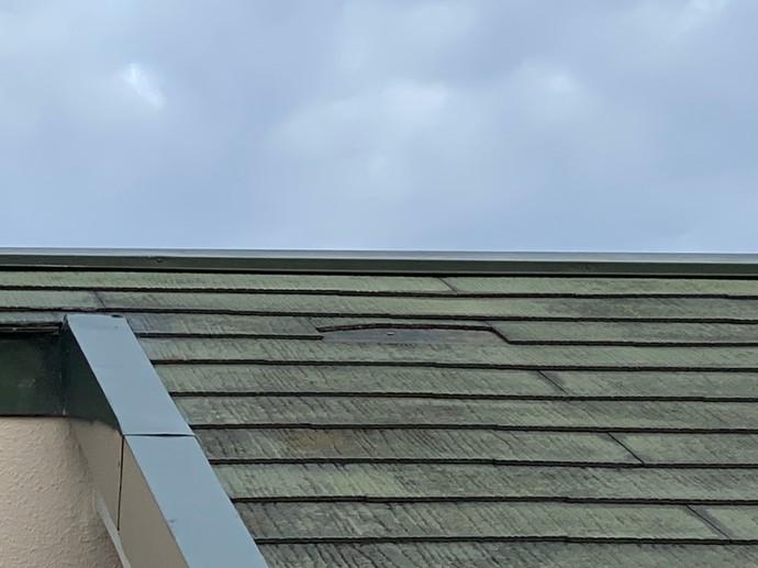 遠賀郡の施設で屋根の葺き替え工事後に屋根塗装施工の施工前画像