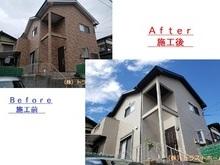 早良区で劣化にお悩みの一軒家 外壁・屋根・付帯部塗装/ベランダ工事を施工の画像