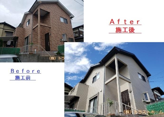 早良区で劣化にお悩みの一軒家 外壁・屋根・付帯部塗装/ベランダ工事を施工の施工後画像