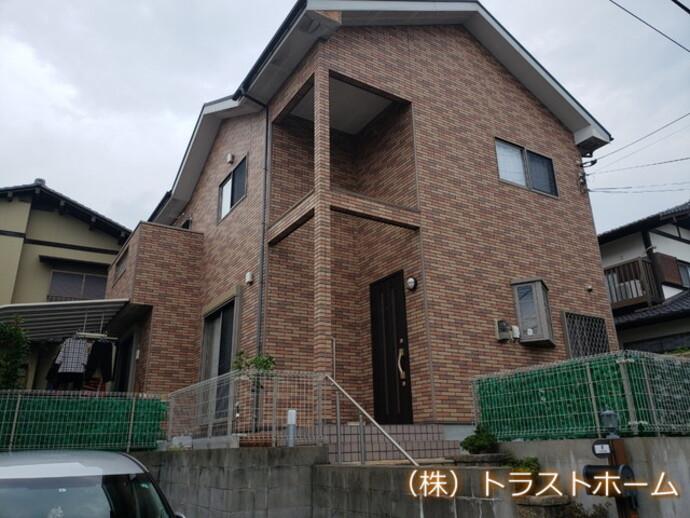 早良区で劣化にお悩みの一軒家 外壁・屋根・付帯部塗装/ベランダ工事を施工の施工前画像