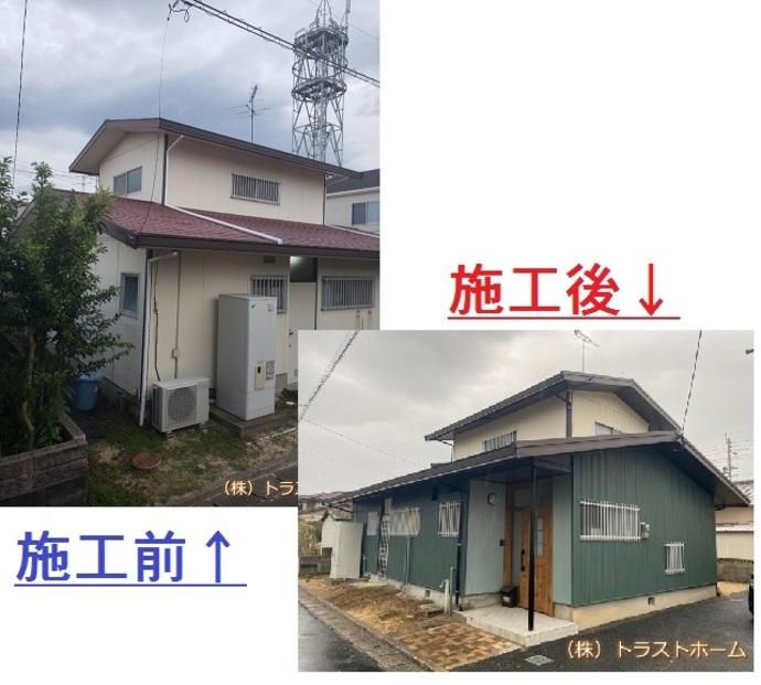 福岡市東区の一戸建ての見た目でお悩み外壁・屋根工事の施工後画像