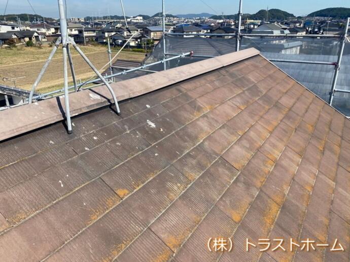遠賀郡遠賀町で一軒家の屋根塗装を行いました。の施工前画像