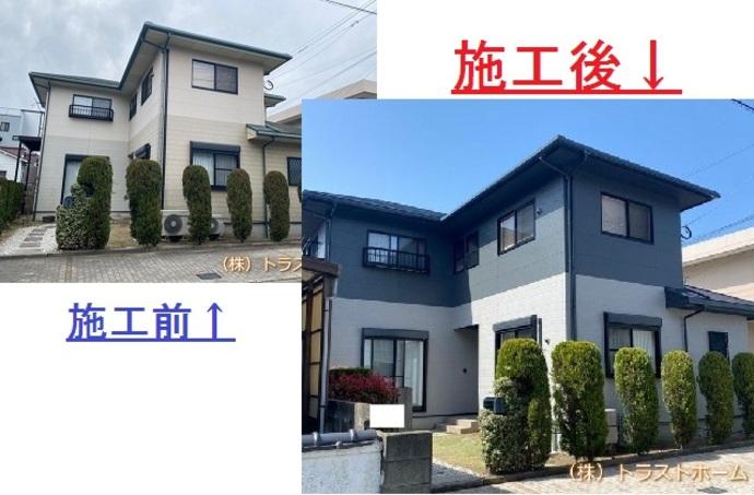福岡市東区で一軒家の塗装を行いました!【外壁編】の施工後画像