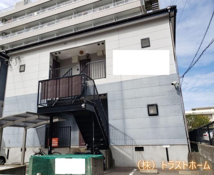福岡市西区2階建てアパート 外壁・屋根・付帯部塗装の施工前画像