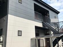 福岡市西区2階建てアパート 外壁・屋根・付帯部塗装の画像